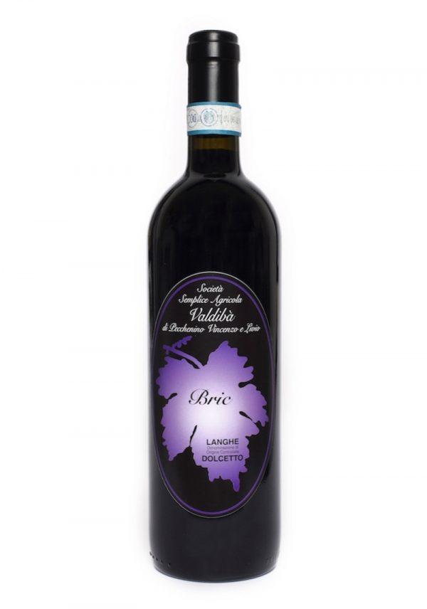 Una bottiglia di vino Bric prodotto dalla Società agricola Valdibà