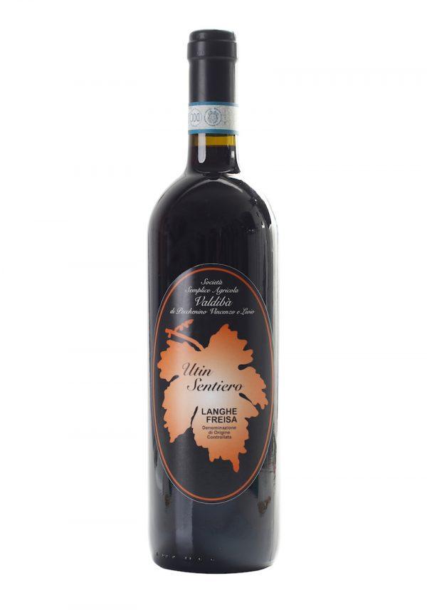 Una bottiglia di vino Valdibacco prodotto dalla Società agricola Valdibà
